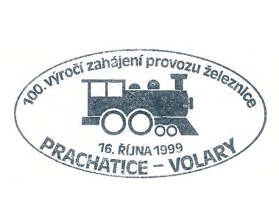 100 let trati Prachatice-Volary