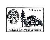 Turistická razítka - Chata PJR Velký Javorník