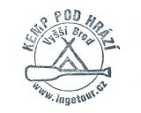 Turistická razítka - Kemp Pod hrází Vyšší Brod