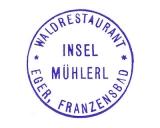 Turistická razítka - Restaurace Mlýnek (Mühlerl) u Chebu