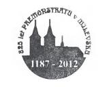 Turistická razítka - 825 let premonstrátů v Milevsku