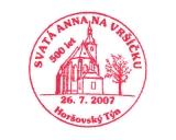 Turistická razítka - Svatá Anna na Vršíčku - 500 let