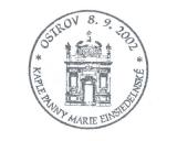 Turistická razítka - Kaple Panny Marie Einsiedelnské Ostrov