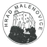 Turistické razítko - Hrad Malenovice