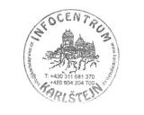 Turistická razítka - Infocentrum Karlštejn