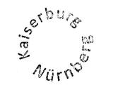Turistická razítka - Hrad Norimberk (Německo)