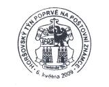 Turistická razítka - Horšovský Týn poprvé na poštovní známce