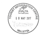Turistická razítka - Valetta (Malta)