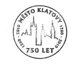 Turistická razítka - Město Klatovy - 750 let