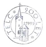 Turistická razítka - Telč - 900 let