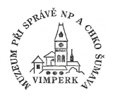 Turistická razítka - Muzeum při správě NP a CHKO Šumava Vimperk
