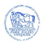 Turistická razítka - Minimuzeum Zlaté stezky Vimperk