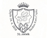 Turistická razítka - Chyše - Stezkou Karla Čapka - 31. ročník