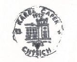Turistická razítka - Chyše - Karel Čapek 1917