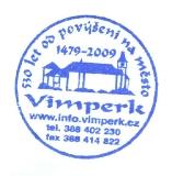 Turistické razítko - Vimperk - 530 let od povýšení na město