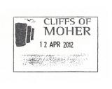 Turistická razítka - Cliffs of Moher (Irsko)