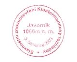 Turistická razítka - Znovuotevření Klostermannovy rozhledny - Javorník